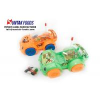 Green Orange Light Car Toy With Colorful Jelly Bean Candy For Little Boy