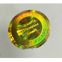 China Customized Logo Gold Holographic Security Stickers Tamper Evident 3D Lasering on sale