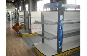 China Stainless Steel Lotion Supermarket Shelves Supermarket Display Racks on sale