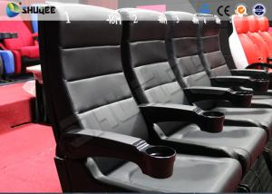 China Custom Theme Park 4D Movie Theater Blue Motion Chairs Imax Movie Theater on sale