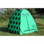1人の緑の子供のテント
