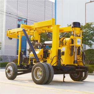 China Wheeled 600 Meters Rotary Diamond Rock Core Water Well Hydraulic Drilling Rig on sale