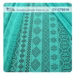 Matériel libre de vêtement d'azo de tissu de dentelle géométrique bon marché au détail de polyester (CY-CT8519)