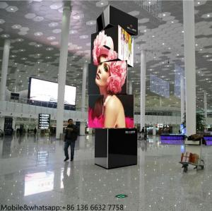 China rotating led display stand airport stadium 3 layer Rotate display led on sale