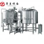 500L 1000L 1500L Commercial Beer Brewing Equipment Stainless Steel In Silver