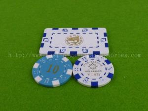 China ABS Premium Printed Dice Poker Chip , Professional Square Poker Chips on sale