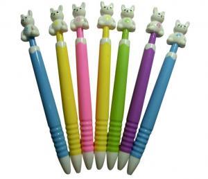 China animal top button gift school children promotional ball pen,animla style ballpoint pen on sale