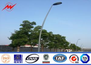 China Street Lighting Single Bracket Parking Light Poles 6m Height Steel 3mm Thickness on sale