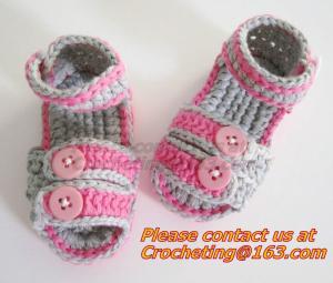 China Boys Girls, Crochet Sandal, Thongs Slippers, Newborn, Infant, Toddler Prewalker Kids Knitt on sale