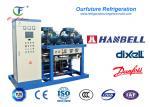 El compresor paralelo de rosca refrigerado por agua de R404a Hanbell Glyco atormenta para el congelador
