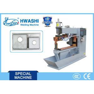 China 100KVA Semi-Automatic Sink Seam Welder Machine for  304 Stainless Steel 1+1mm thickness on sale