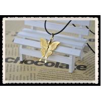 24K Gold Plated Jewelry / Gold Butterfly Pendant As Teachers Day Gift