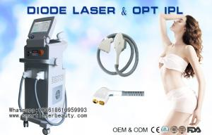 China 2 In 1 810nm Diode Laser Hair Removal Machine / OPT SHR IPL Hair Removal Equipment on sale