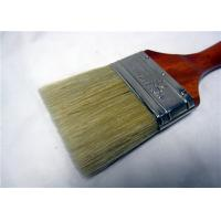 White Bristle Flat Round Paint Brush For Oil Based Paint / Wall Painting
