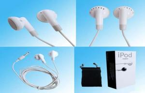 China In-Ear Plug iPod Apple iPhone Earphones With Microphone , Talk Control 32ohm on sale