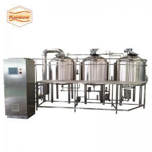 China 200L 300L brewhouse system with electric heating and control cabinet beer brewing equipment on sale