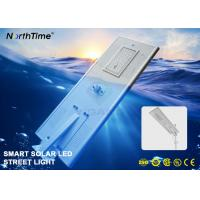 Phone APP Control System Smart Solar Street Light With Bridgelux LED Chips 8000LM
