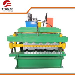 China Color Coated IBR Double Deck Roll Forming Machine Automatic PLC Control For Roofing Tile on sale