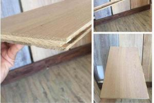 China 3 layers oak laminated solid timber flooring on sale