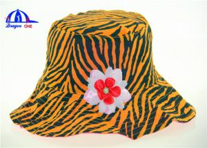 China 100% Polyester Sublimation Fancy Printed Bucket Hats , Spring Ladies Bucket Caps on sale