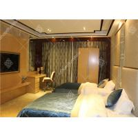 Hotel Wooden Bed Room Furniture With Wardrobe , Table and Luggage Rack