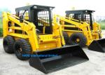Durable Compact Wheel Loader , Skid Steer Equipment 140 - 205mm Ground Clearance