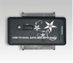 Quality USB2.0 to SATA x2 hard disk adapter, suppot RAID 0 RAID 1 MH-HCA-886 for sale