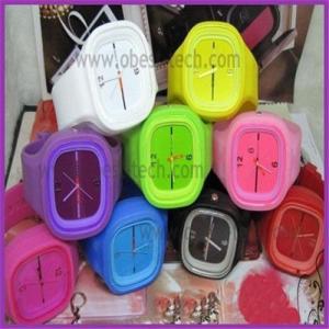 China geneva silicone jelly watch on sale