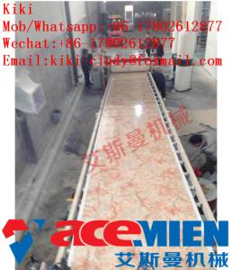 China 1220mm Plastic Artificial Marble Machine / PVC Marble Sheet Production Line on sale