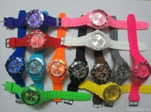 China Popular Kid's wrist silicone jelly Watches for swimming on sale