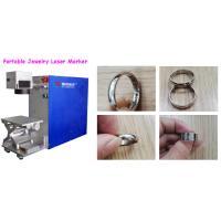 Small Volume Portable Laser Marking Machine For Ear Ring / Gold Bracelet Bangle