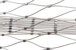 China Decorative Architectual Facade Cladding Cable Rod Woven Mesh on sale