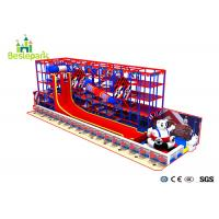 Indoor Ball Pool Playground Kids Toys With Slide Trampoline / Obstacle Course