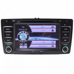 China Wholesale 2 DIN 7 Inch Car DVD Player GPS Navigation for Skoda Octavia Laura 2004-2013 Steering Wheel Control on sale