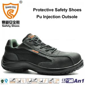 China sport work shoes with steel toe cap and steel plate guangzhou safety shoes factory on sale