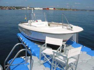 Quality V-float pontoon for jetski docks for sale