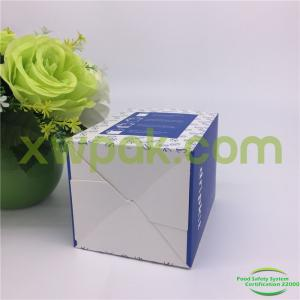 China Samll Cardboard Paper Packing Box Custom Folding Design For Coffee Or Tea With Logo on sale