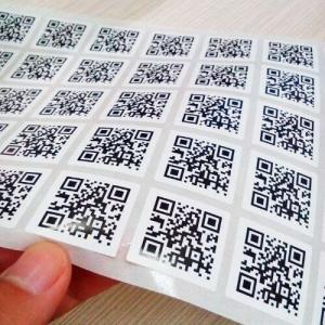 China Variable Data Printing Barcode QR Code NO.Printed 2D Barcode Sticker Label on sale