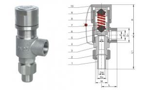 China Spring Micro Safety Pressure Reducing Valves with Stainless steel / F6  Steillie Trim on sale