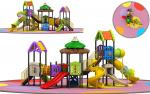 Witch's House Childrens Outdoor Slide Playground Equipment Multicolored Slide Set