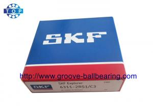 China 6311-2RS / C3 Sealed Radial Deep Groove Ball Bearings Size 55x120x29mm on sale