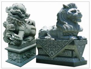 China Garden Sign Resin Animal Dog Sculpture Welcome Sign on sale