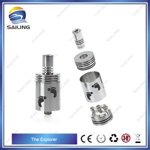 China Pure Stainless Steel E Cig Rebuildable Atomizer Changeable Coil , Sailing Explorer on sale