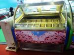 Gelado de aço inoxidável da estação da sobremesa que mergulha os tanques do congelador 16 da exposição