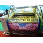 Мороженное нержавеющей стали станции десерта окуная баки замораживателя 16 дисплея