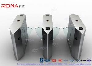 China Electric 316 SS Security Flap Barrier Gate Turnstile Gate With IR Sensor 13.56mhz Card Reader on sale