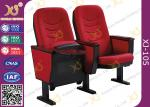 Solid Wood Armrest Church Chair Stadium Theater Seating With Steel Leg