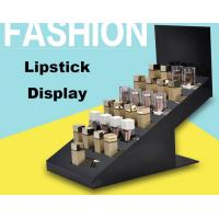 High End Retail Cosmetic Display Cases Lipstick Display Stand Eco Friendly Material