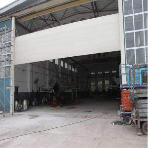 China Big size / big opening windproof wind resistant aluminum rolling shutter door factory from China SA140 on sale