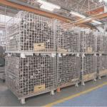 Mesh Wire Pallet Forklift Metal Steel Storage Collapsible Stacking Container